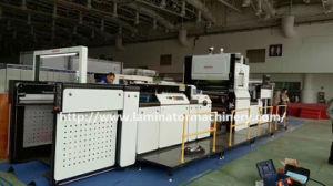 Zfm-1080b máquina laminadora automática de película con la cadena cuchillo