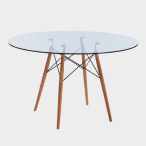 El diseñador moderno elegante salón comedor con sillas de plástico resistente blanco Montaje rápido y fácil de madera