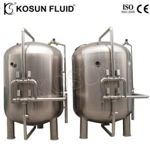 Aço inoxidável carbono activado o Filtro de Água Industrial