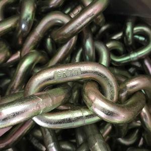 Enlace de acero de aleación de G70 de la cadena de enganche de la cadena de transporte