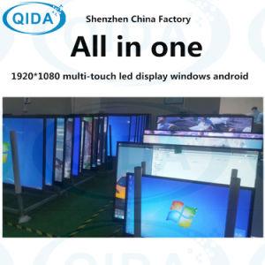 LED Whiteboard PC 인조 인간 다중 접촉 스크린 대화식 지능적인 널을 광고하는 교육
