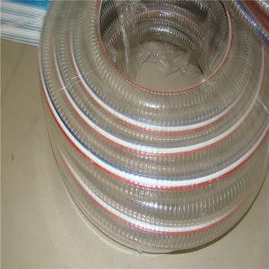Hochtemperatur-PU-flexibler Stahldraht-schrumpfbarer Absaugung-Schlauch