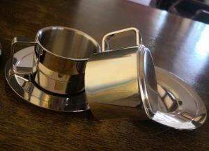 Duble de acero inoxidable 304 de la capa de taza de café, SUS304 Cup