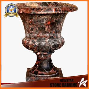 Шоколадный цвет камня Карвинг сад Flower Pot (NS-11P18)