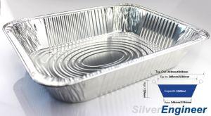 La compagnie aérienne de Fast Food moule en aluminium à usage unique contenant ce approuvé