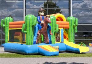 Cowboy Gorila inflable con tobogán combinado CB0608