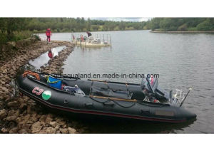 Boots-/Rettungs-Militärboots-/Sports Fischerei des Aqualand 16FT aufblasbare Gummimotor12persons (aql-470)