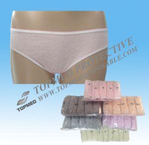Bragas disponibles del algodón de la venta caliente para el hotel/el recorrido, ropa interior atractiva de las señoras del algodón del color rosado