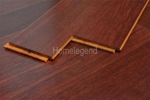 La couleur rouge carbonisé Strand tissé le sol en bambou lisse de vernis UV