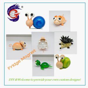 Animal característico de la imagen 3D para regalo de promoción de productos de hierro imán de nevera
