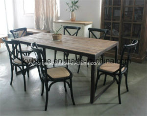 Vintage Industrial Recalimed Wood Furniture Mesa de comedor de olmo ...