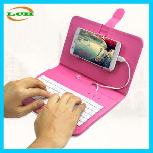 Teclado de teléfono móvil universal Folio Funda de cuero para teléfonos Android