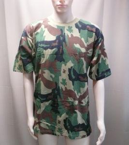 Stock Camo T camisa, barato para acções de promoção