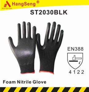 La espuma de nitrilo Guante de seguridad para el uso de la Jardinería (ST2030BLK)