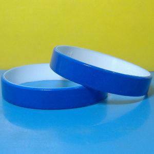 Braccialetti rivestiti personalizzati del silicone di colore di 1/2mm