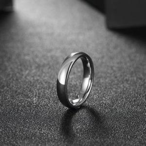 Geplateerde Juwelen van de Ring van de Glans van het Staal van het Titanium van de manier de Eenvoudige Zilver