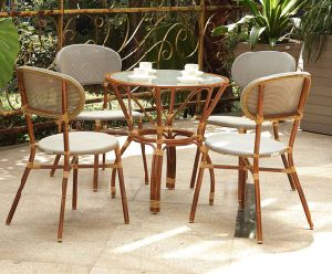Sedia di giardino della mobilia esterna di bambù e Tabella di bambù (BZ-SB008)
