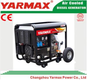 Anerkannter 9kw 9000W geöffneter Rahmen-Dieselgenerator-Set-Dieselmotor Genset des Yarmax Cer-ISO9001