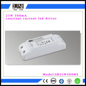 500mA la fuente de alimentación de la salida 27V-42V 21W LED, viruta de la MAZORCA LED, guarnición del LED, programa piloto del panel de 21W 24W LED, para el LED abajo se enciende