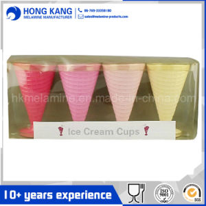 Coloridas tazas de helado de melamina