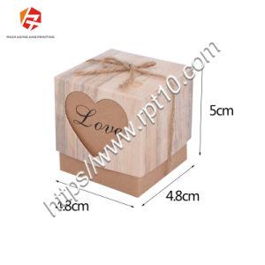300GSM de forma de almohada de papel Kraft Caja de regalo dulces de boda pendientes Collar&Maletines Jeweley Embalaje