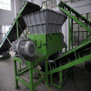 Двойной вал Бумагорезательная машина для резки всего их на кусочки размером шин