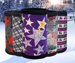 Novo design de dupla camada de lenço no pescoço para roupa suja
