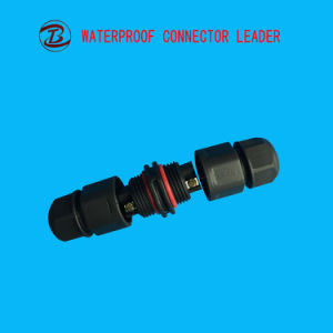IP68電源コード2 Pinの電気プラスチック防水コネクター