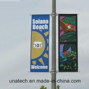 昇進の旗クランプ定着液(BS05)を広告する金属の通りのポスト