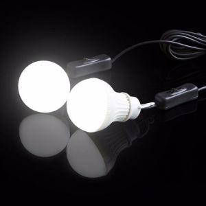 Ground Spikeの2W Brightの庭Yard Light Sensor Outdoor Waterproof Solar Power Bulb Light