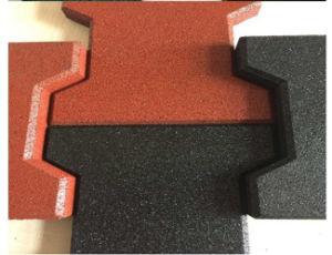 Tapis double face de la salle de gym Tapis de sol en caoutchouc