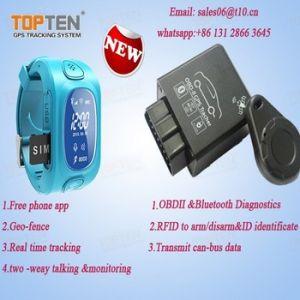 Rastreador de vigilância inteligente para crianças com 2 comunicação bidireccional, botão de chamada Sos Wt50-Ez