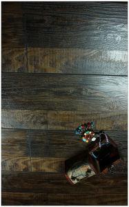 12,3mm mano raspó Hickory suelo laminado de insonorización