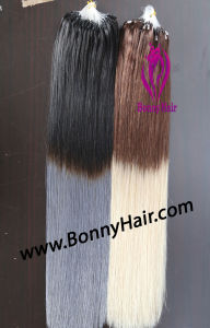Mikroring-Haar-Extension, Mikroraupe-Haar-Extension, Traumhaar-Extension, t-Farbe, 100% Mensch Remy Haar
