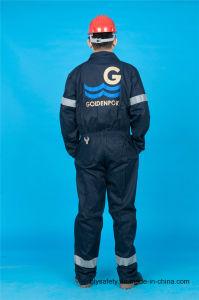 Uniforme poco costosa del Workwear di sicurezza lunga del manicotto del poliestere 35%Cotton di 65% (BLY1020)