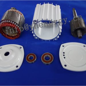 1KW Mini turbina horizontal interno do motor do gerador