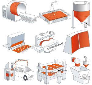전자공학을%s 유연한 실리콘 히이터 난방 매트 패드 3D 인쇄 기계