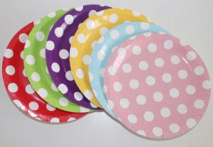 Les articles de décoration en gros les assiettes de papier de couleur