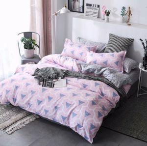 Neuer einfacher Art-Entwurf preiswertes 80GSM druckte Mikro-Polyester-Bettwäschebedsheets-Bettwäsche-Set