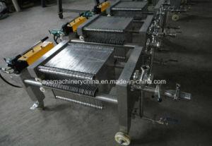 Cxas-1 plaque en acier inoxydable et le châssis Filtre presse