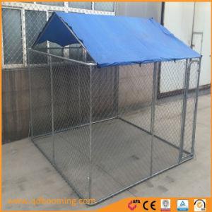 Kettenlink-Hundehundehütte tun ihn sich temporärer Hundezaun