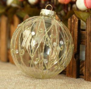 Sfera all'ingrosso di Handpained di natale per la decorazione dell'albero di Natale