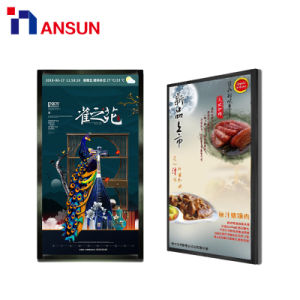 42 50 인치 메뉴 전시를 위해 LCD 위원회를 광고하는 실내 벽 마운트 스크린 대중음식점 디지털