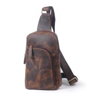 Большая емкость мужчин Cross-Body Satchel повседневная сумка Vintage корова одно наплечная сумка из натуральной кожи