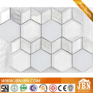 Mosaico di vetro di stile americano di figura del diamante e di esagono (M855163)