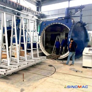 Curing Architectural Glass를 위한 3350X5000mm Electric Heating Glass Autoclave