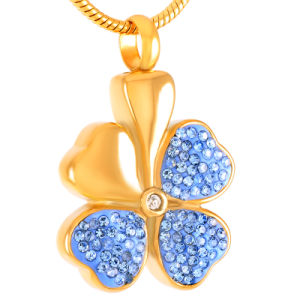 Juwelen van de Tegenhanger van vier As van de Crematie van de Urn van het Ontwerp van de Klaver van het Blad de Herdenkings