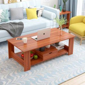 Simple de madera mesa de café de doble capa de inicio