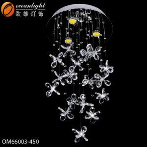 Moderner Kristallleuchter, der grossen Leuchter mit Bild (OM6802-Y, beleuchtet)