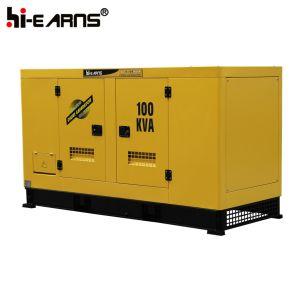 Resfriada a marquise silenciosa do gerador a diesel (GF2-90kVA)